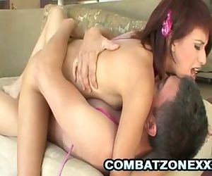Asian Teen Zoey Bennett Satisfies Her Pussy With Dildo And Daddy Cock