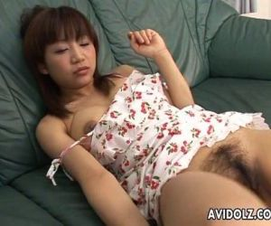 Boys get aroused as they spy on the masturbating Asian slut - 6 min