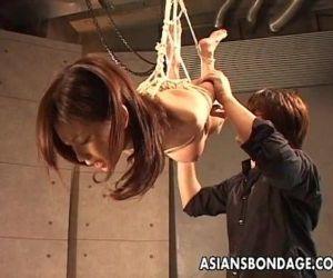 Asian slut hangs on the ropes as shes spun - 8 min