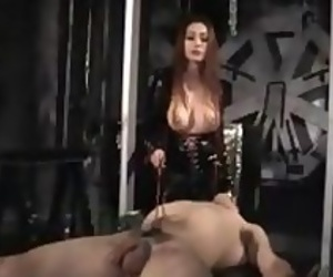 Asian mistress cock torture and breast suffocation