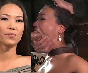 Kalina Ryu Tied Throatfuck and Sybian