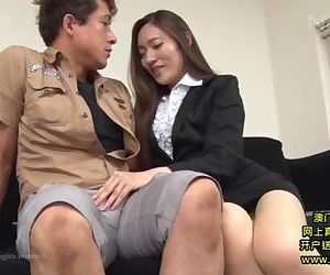 Hot Asian Secretary Takes Advantage 1