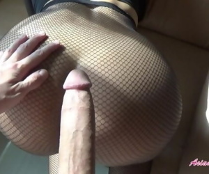 Rip my fishnets and cream pie my little Asian pussy