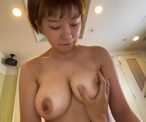 Chubby Asian Girl is having a Sex. Japanese Moans with Hairy Pussy and Big Tits. Shower Osakaporn