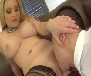 Obedient sub Licking her Mistress Pussy