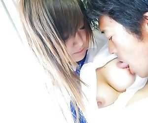 Asian hot schoolgirl miku airi fingered and fucked - part..