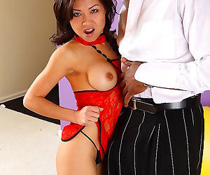 Sexy asian slut loves sucking and fucking big black cock -..