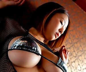 Tama mizuki perfect and natural big tits posing in..