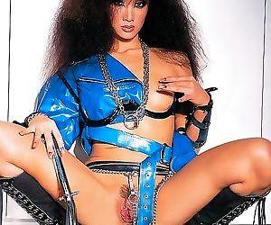 Exotic fetish asian slut katsuni in leather fucking anal -..