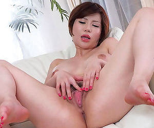 Three japanese beauties spreading their legs and showing..