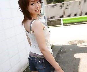 Pretty japanese mina manabe showing tits and pussy - part..