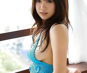 Busty japanese model mai nadasaka nude showing ass - part..