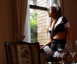 Japanese maid yuka hata shows titties and firm ass - part..