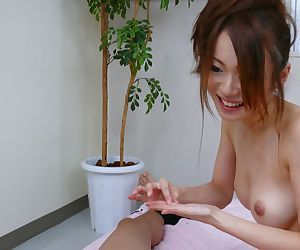 Hot Japanese masseuse Sara Seori does two Asian cocks..