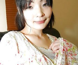 Asian teen Yuka Nagase gets talked into undressing and..