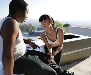 Japanese masseuse Marica Hase seduces a black client..