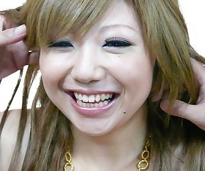 Petite Japanese girl Rui Haduki sports a messy creampie..