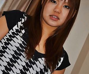 Naughty asian teen Minami Aida undressing and playing with..