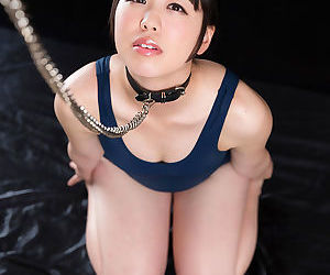 Gorgeous submissive Asian girl is on her knees getting..