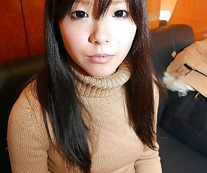 Lovely asian teen in pantyhose Ami Nagashima undressing..