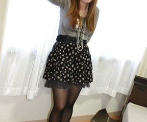 Bosomy asian teen Honoka Ono undressing and playing with a..
