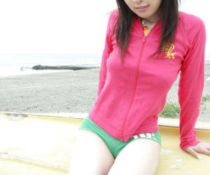 Lustful asian teenage babe showcasing her big knockers..
