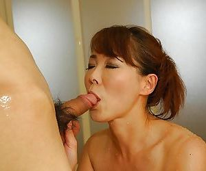 Horny asian MILF Kayo Mukai gets her unshaven cunt vibed..