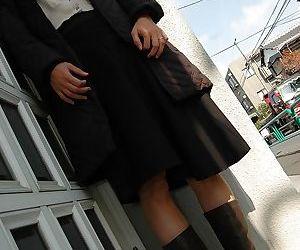 Foxy asian MILF Takako Yanase undressing and spreading her..