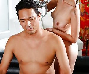 Asian man receives happy ending massage from Japanese..