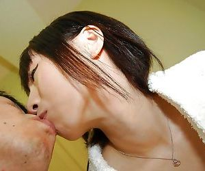 Petite asian teen gets her trimmed pussy cocked up and..