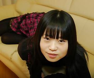 Playful asian schoolgirl Rio Takei getting rid of her..