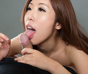 Nude Japanese female spits out cum from mouth after a..