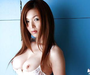 Pretty asian chick with petite tits Mai Hanano slipping..