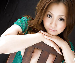 Adorable asian babe on high heels Rika Aiuchi showcasing..
