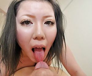 Asian MILF Aya Uchiyama gets her hairy cunt pumped and..
