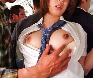 Yuna satsuki asian has big tits exposed and sucks dicks on..