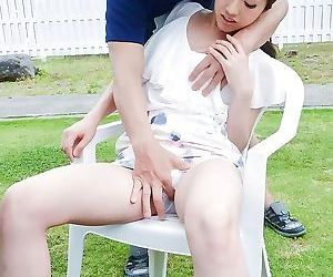 Asian kana miyashita in an outdoor fuck on a penis - part..