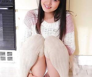 Young asian teen kotomi asakura shows ass and pussy - part..