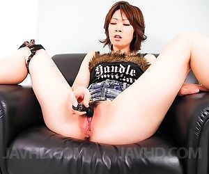 Rio kagawa asian fucks her asshole and cunt with many..
