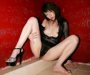 Japanese kurumi morishita showin titties and pussy - part..