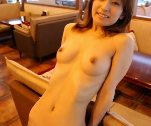 Young Japanese girl gets totally naked at home for great..