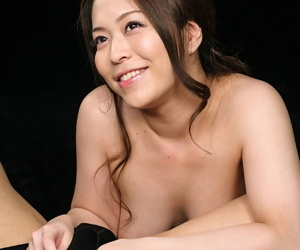 Naked Japanese beauty licks cum from her fingers after a..