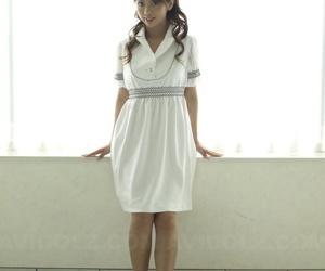 Nice Japanese teen Misato Matsu poses non nude in dress..