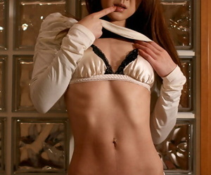 Slim Japanese girl Aoki Rumi deepthroats a cock while..