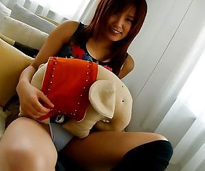 Japanese teen kana in white panties shows her body - part..