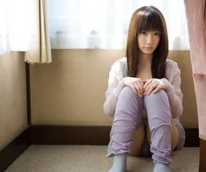 Innocent Japanese teen Hina Kurumi bares her bush while..