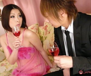Japanese beauty Tsubaki sports a creampie after sex with..