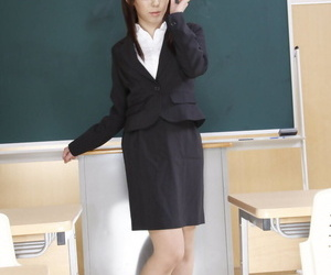 Japanese schoolteacher Maho Sawai dons blindfold and gag..