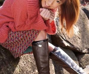 Cute Japanese teen Anna Suzukaze shows her pussy via see..