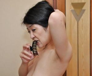 Fuckable asian MILF with flabby jugs Satoko Miyazawa..